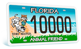 Florida Animal Friend Plate